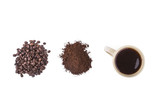 isolared coffee grains