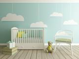 Fototapety nursery, baby room, children room interior