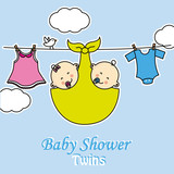 Twins baby shower.