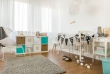 Fototapety Infant bedroom with white furniture