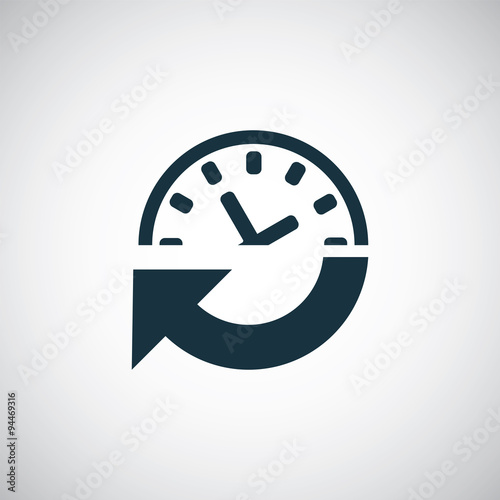 time arrow watch icon