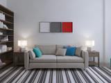 Fototapety Modern lounge room idea