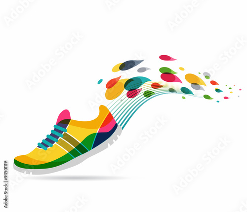 Naklejka Vector poster - running and sport
