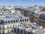 PARIS, FRANCE, on AUGUST 31, 2015. The top view from a survey platform on roofs of Paris