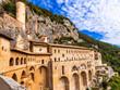 Постер, плакат: Monastery of St Benedict near Subiaco Lazio Italy