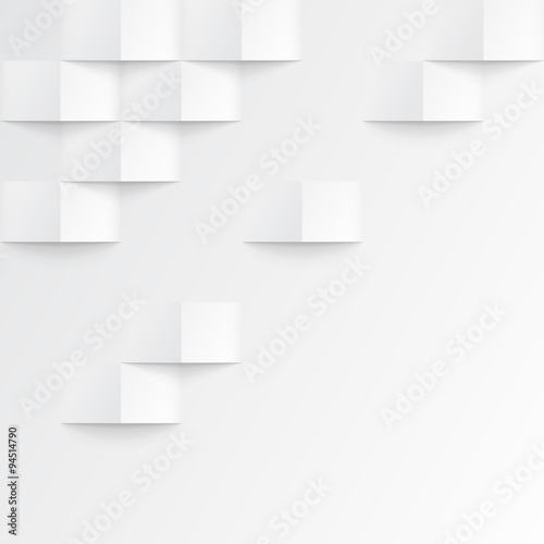White seamless geometric texture - 94514790