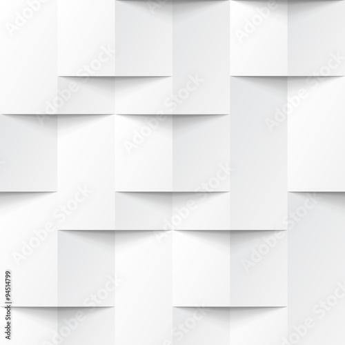 White seamless geometric texture - 94514799