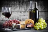 Fototapety Wine and cheese