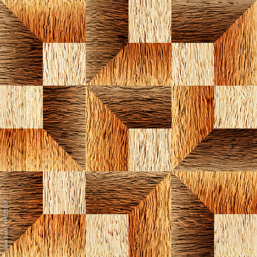 Plakat Wooden paneling pattern - seamless background - textures nut