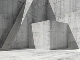 3d illustration, modern architecture background 3 d