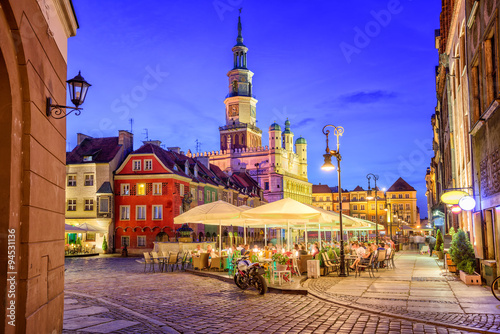 Main square of the old town of Poznan, Poland on a summer day ev © Boris Stroujko
