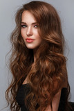 Fototapety Beautiful woman with long glossy hair