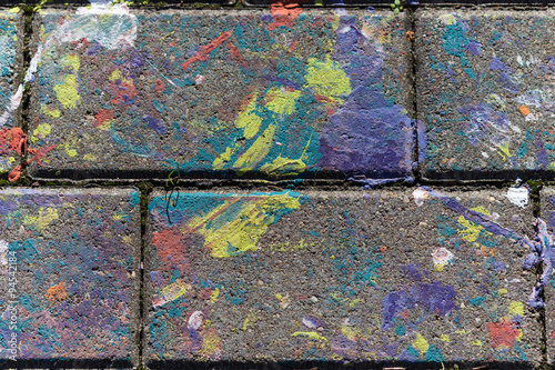Foto op Plexiglas Wand colored stains of paint on a slab