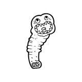 line drawing cartoon  leech