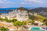 Chora town, Ios island, Cyclades, Greece. - 94558178
