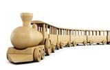 Fototapety Toy wooden train. 3d.