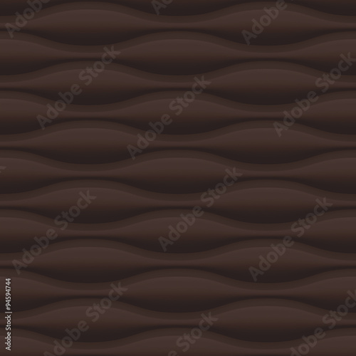 Brown wavy panel seamless texture background. - 94594744