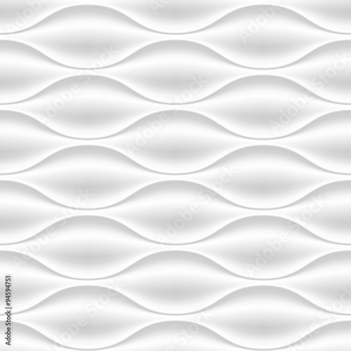 White wavy panel seamless texture background. - 94594751