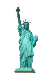 The Statue of Liberty on white background
