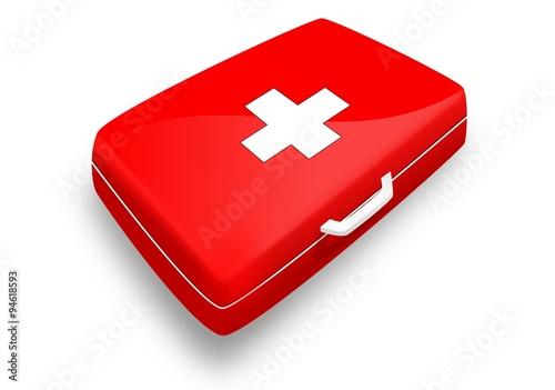 trousse de secours version rouge avec croix blanche stock image and royalty free vector. Black Bedroom Furniture Sets. Home Design Ideas