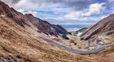 Transgarasan Road on the Fagaras Pass situated in Romania. Photo taken in October 2015