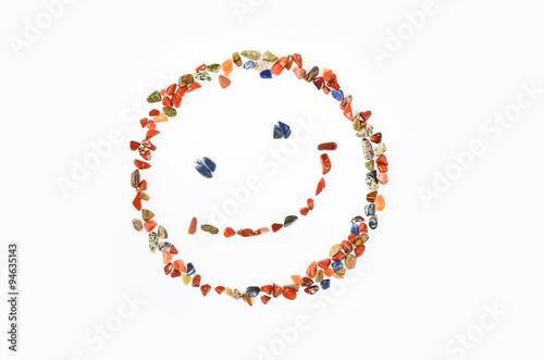 Poster Lachendes Gesicht aus Mineralien Heilsteine Edelsteine