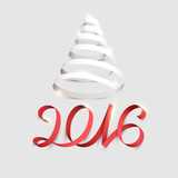 Fototapety New Years  2016. Calligraphic inscription.