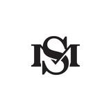 Letter M and S monogram logo