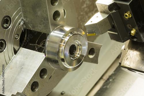 Poster CNC lathe machining automotive part