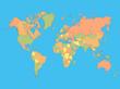 Colorful World Map Illustration