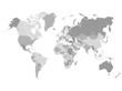 Grayscale World Map Illustration