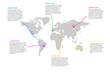 World Map Infographics Illustration