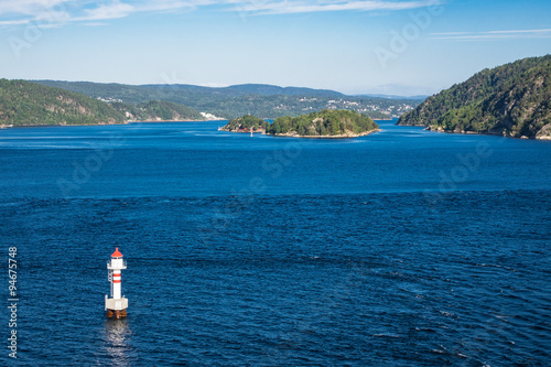 Poster Leuchtturm im Oslofjord