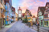 Fototapety Colorful half-timbered houses in Rothenburg ob der Tauber, Germa