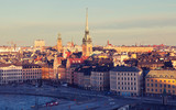 The view of Gamla Stan, Stockholm.