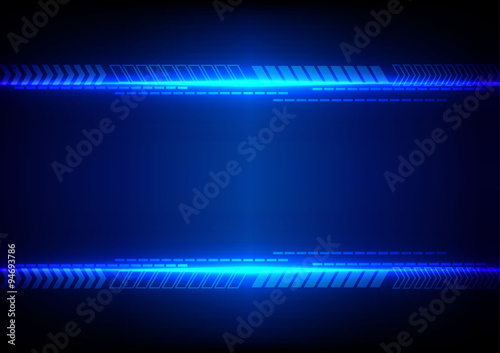 abstract blue light with arrow technology background. illustrati