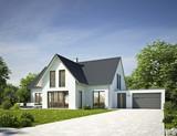 Haus Standard weiß mit Garage - 94711125