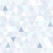 Triangular shape shimmering blue seamless pattern. Geometric shiny background.