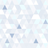 Triangular shape shimmering blue seamless pattern. Geometric shiny background. - 94711710