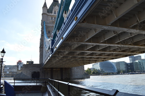 Tower Bridge bottom side view