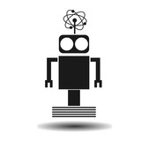 black flat robot vector