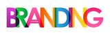 Multicoloured BRANDING vector icon