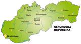 Karte von Slowakei