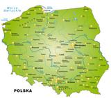 Fototapety Karte von Polen