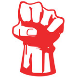 fist - symbol of the struggle for independence-vector