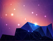 Abstract polygonal colorful background with stars.