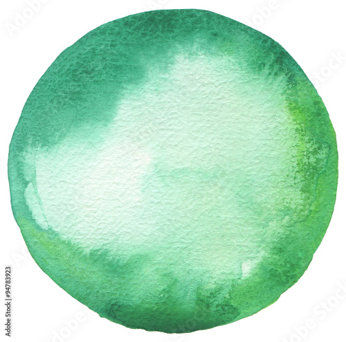 Fotobehang Geschilderde Achtergrond Сircle watercolor painted background.