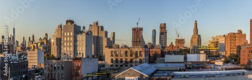 Foto op Aluminium New York skyline of New York in sunset