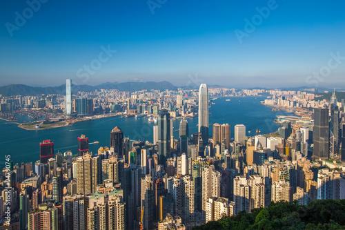 Poster Hong Kong city view from peak
