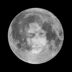 Moon with woman face